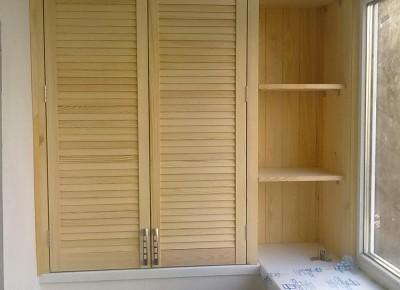 Шкаф на балкон любых размеров и конструкций
